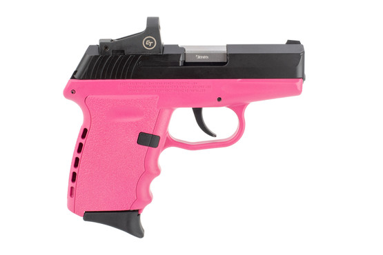 SCCY CPX-2 9mm pistol features a pink polymer frame