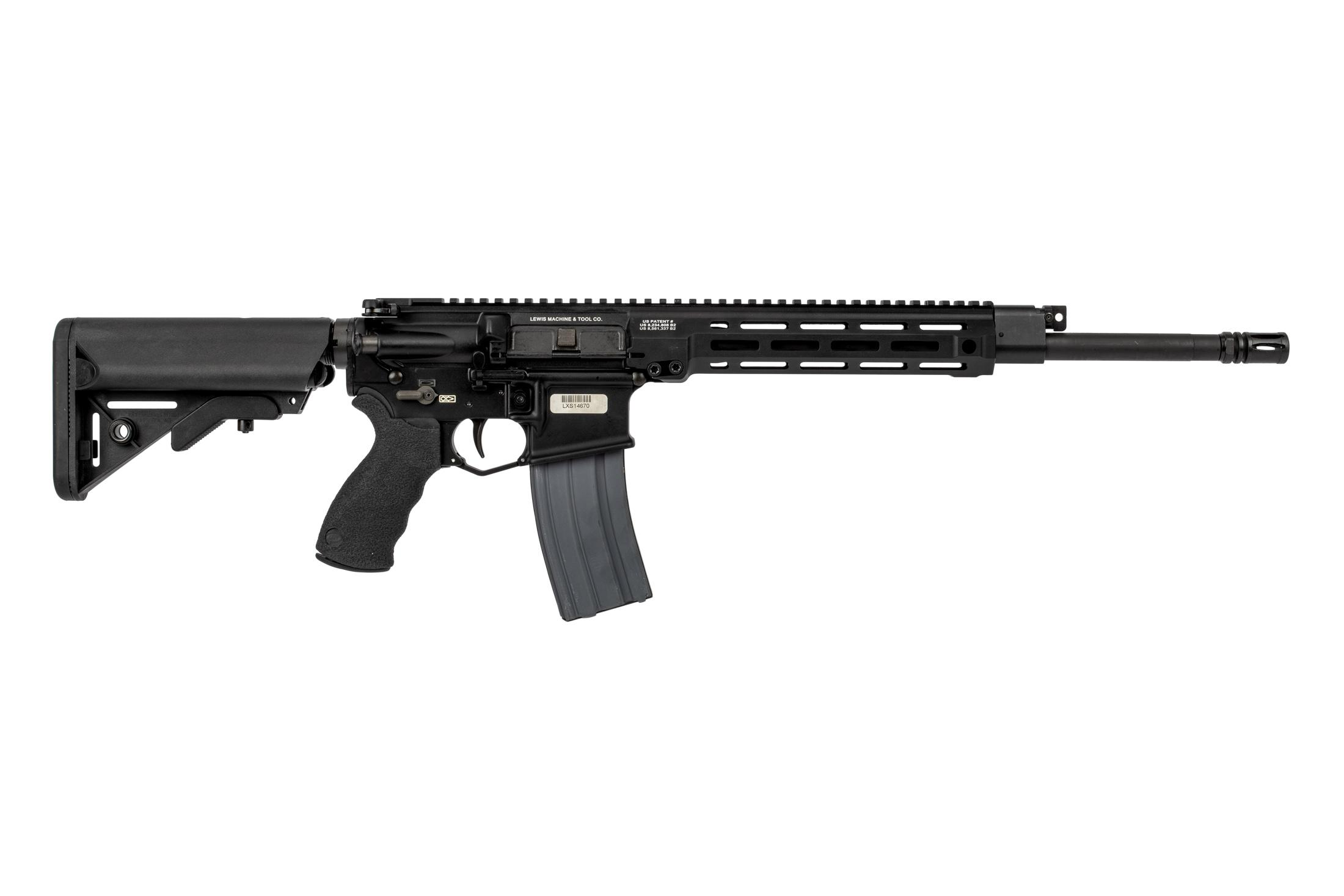Lewis Machine and Tool MLC MARS AR15 rifle features a carbine length gas piston system