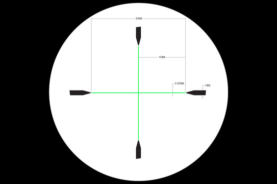 Credo 3-9 Hunting scope features the Duplex Reticle