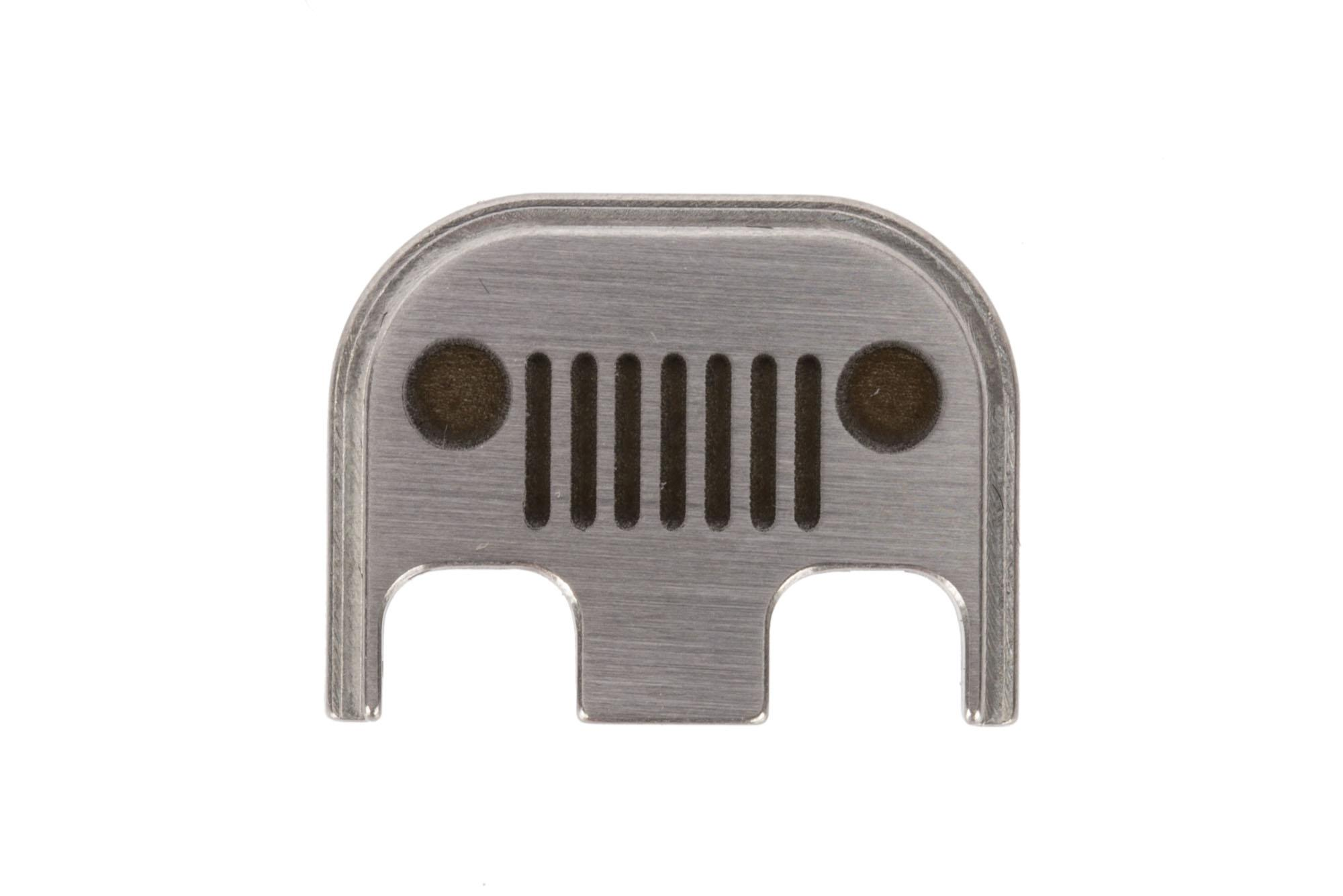 Classy Raptor Tactical Off Road Standard Stainless Steel Glock Back Plate - Brushed