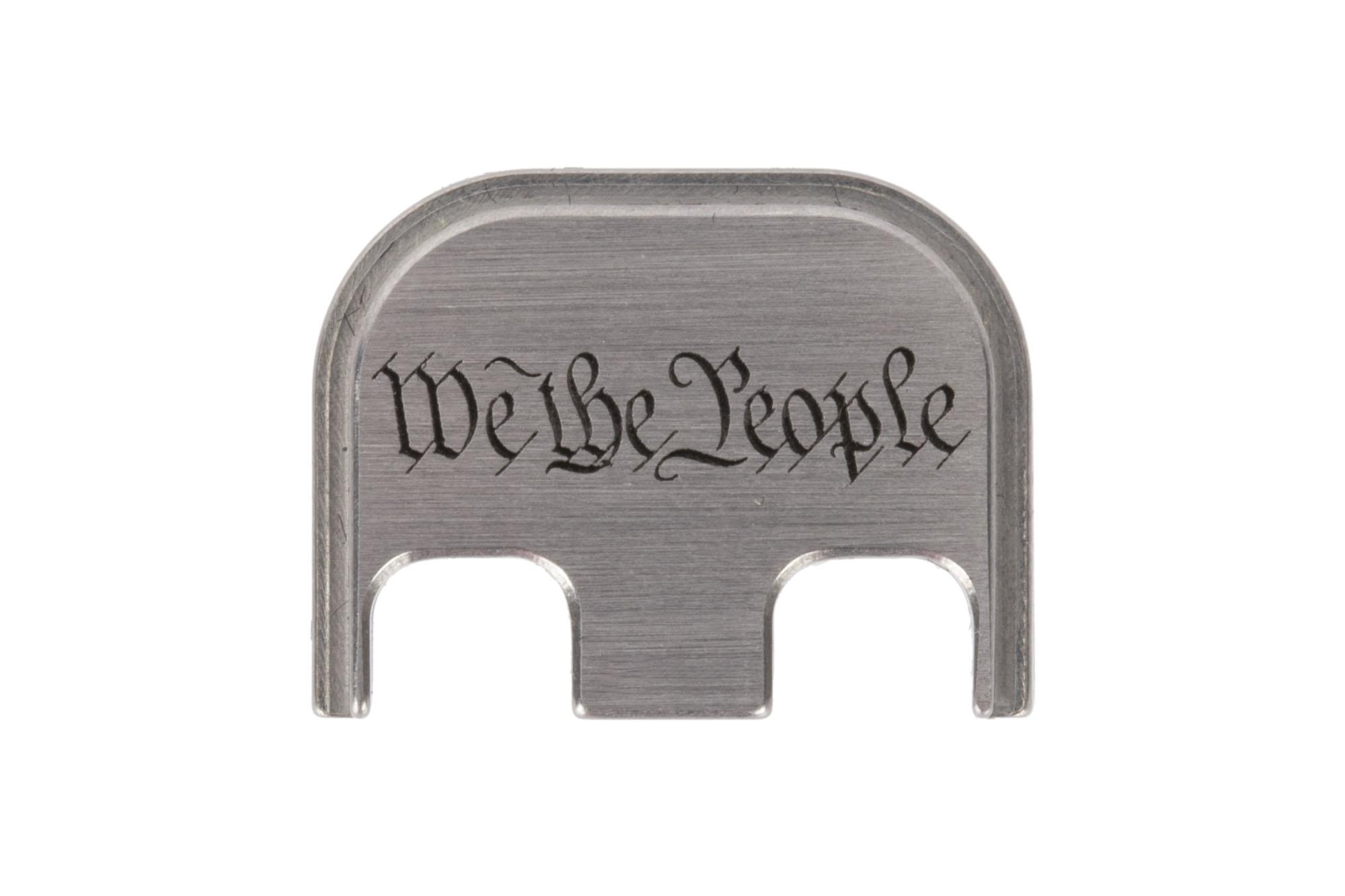 Classy Raptor Tactical We The People Standard Stainless Steel Glock Back Plate - Brushed