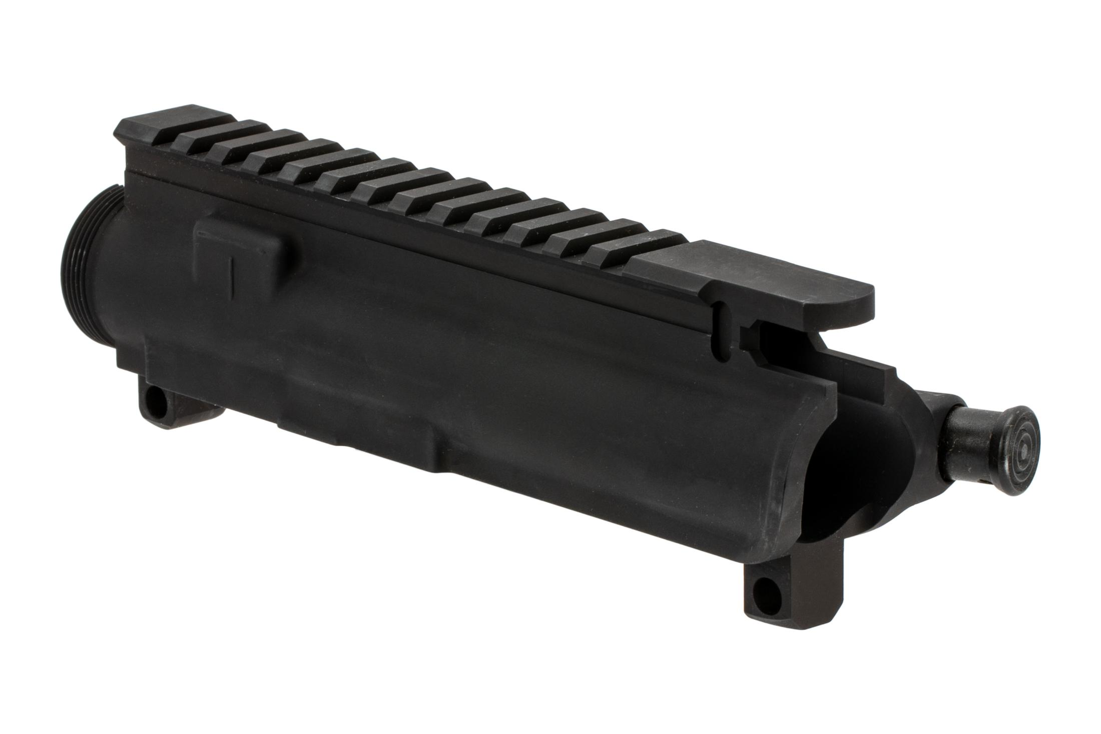 The Colt AR15 upper receiver features t-markings for optic placement