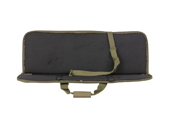 NcSTAR's 36in single rifle case is olive drab green and features straps to secure your rifle and protect your carbine.