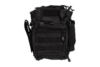 VISM First Responders Black Utility Bag by NcSTAR contains PALS webbing on the front, sides, and bottom