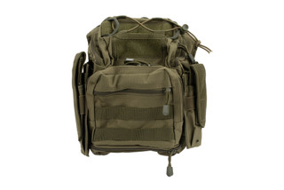 NcStar VISM first responder utility bag features MOLLE compatible and contains PALS webbing on front, sides, and bottom