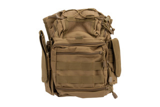 VISM First Responders Tan Utility Bag by NcSTAR contains PALS webbing on the front, sides, and bottom