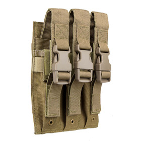 NcSTAR VISM triple magazine pouch comes in tan