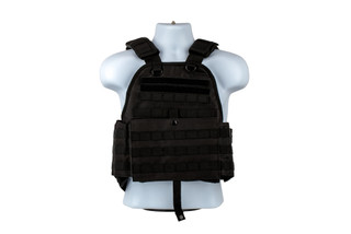 The NcSTAR VISM Adjustable plate carrier is made from black Nylon and can be configured from Medium to 2xl sizes