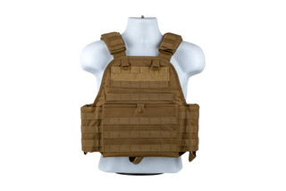The NcSTAR VISM Tan Adjustable Plate Carrier can be configured from medium to 2xl body sizes
