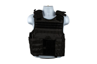 The NcSTAR VISM Expert plate carrier is made from durable black PVC material