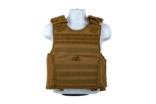 The NcSTAR VISM Expert Plate Carrier Vest is made from durable Tan PVC material