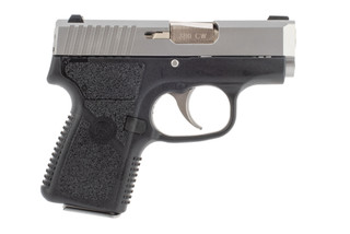 Kahr CW380 sub compact pistol features a stainless steel slide