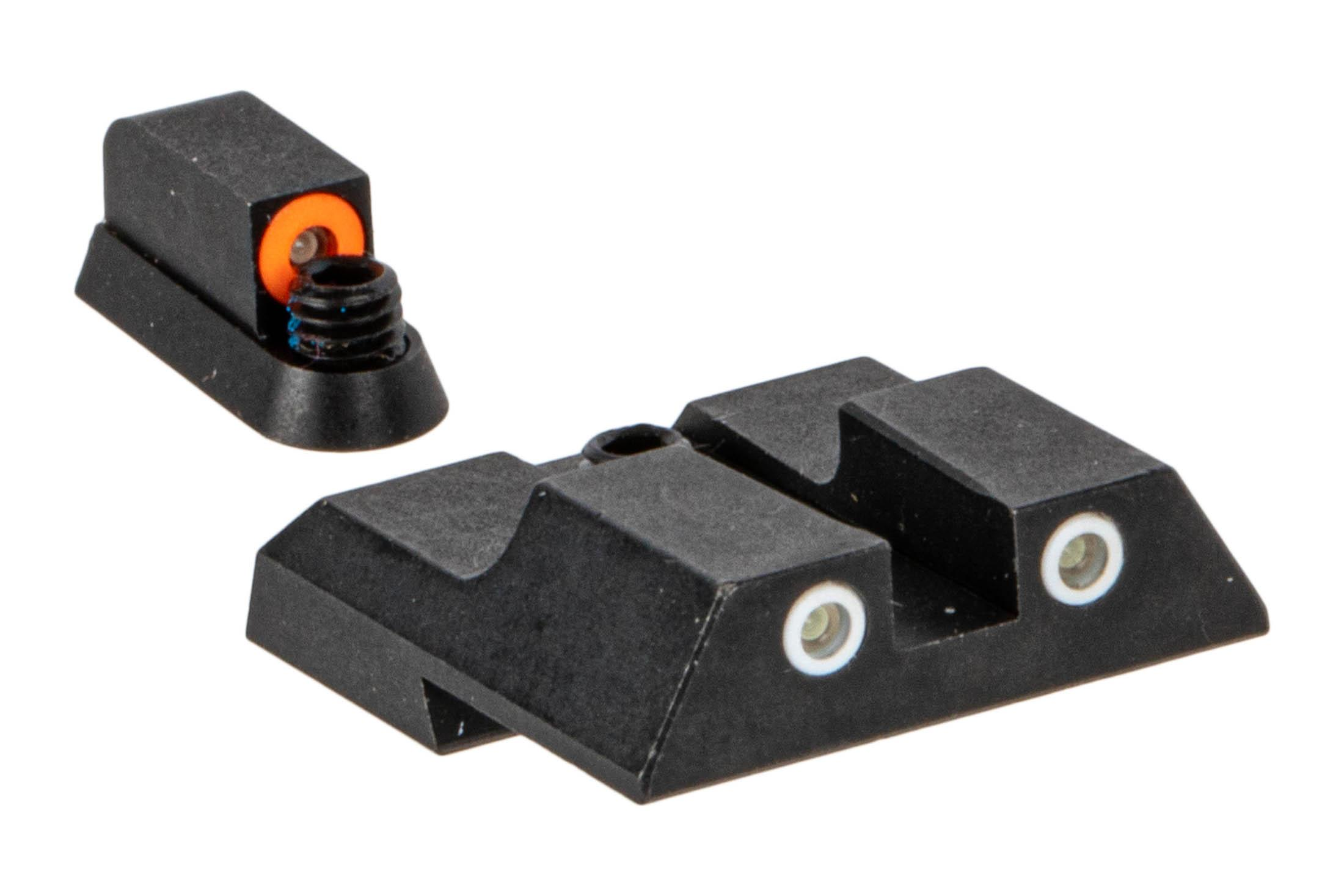 Night Fision Perfect Dot Night Sight Set with square notch, Orange front and White rear ring for CZ P07/P09 handguns