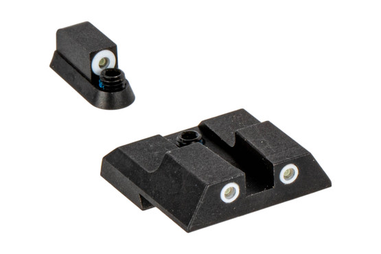 Night Fision Perfect Dot Night Sight Set with square notch, White front and White rear ring for the CZ P07 or P09 handguns.