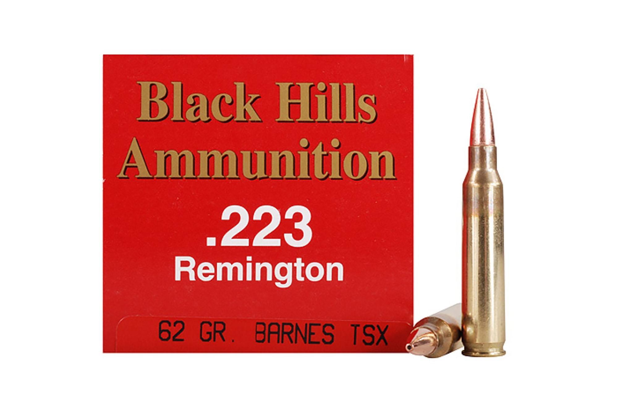 Black Hills Ammunition .223 Remington 62 gr Barnes TSX ...