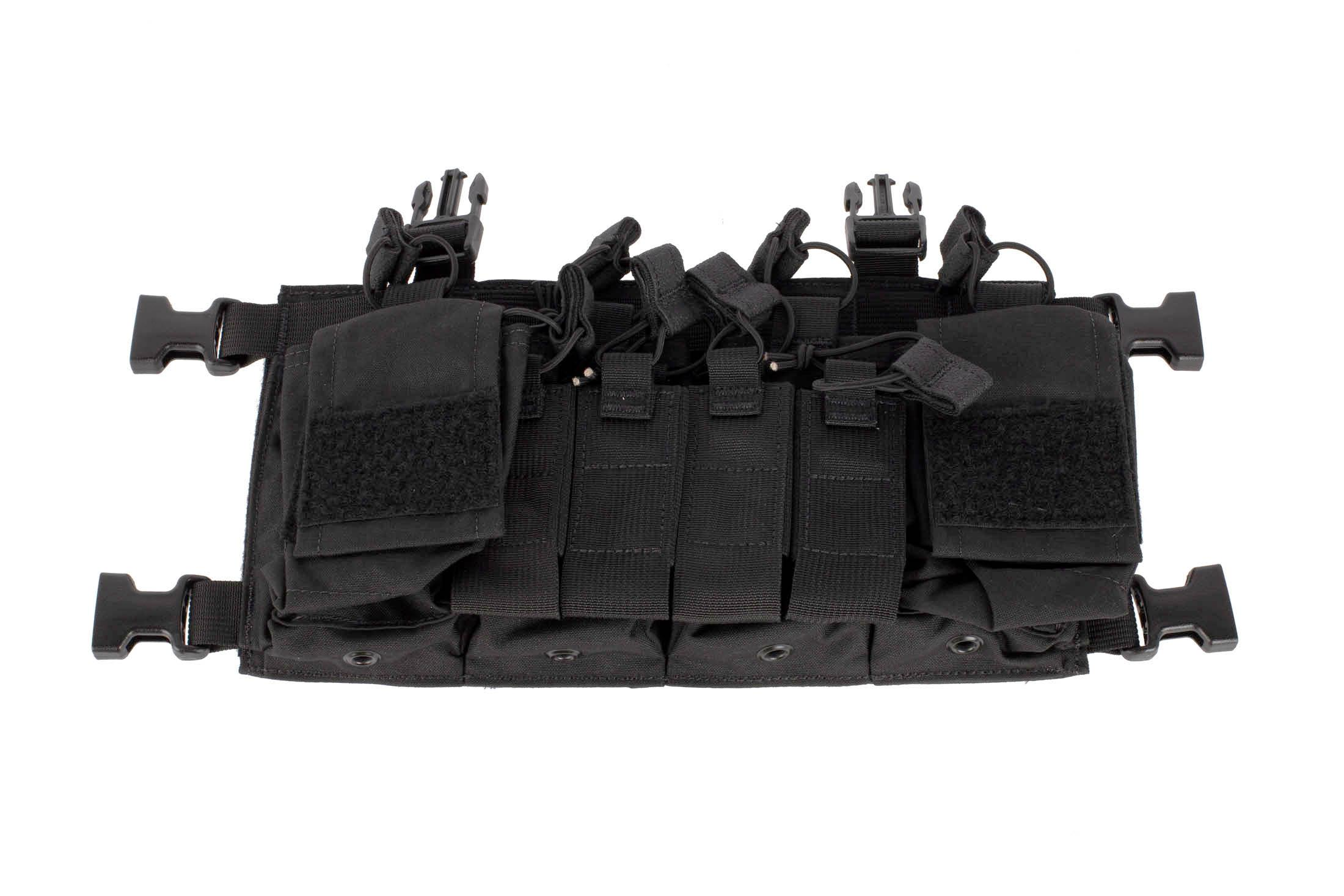 Haley Strategic D3CRX chest rig in black includes twin double mag pouches and four multi-mission pouches