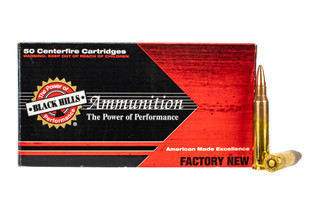 Black Hills ammunition 5.56 NATO with 50 grain Barnes TSX optimized bullet with 50-rounds per box.