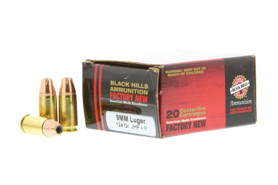 Black Hills Ammunition 9mm +P 124 gr JHP - Box of 20