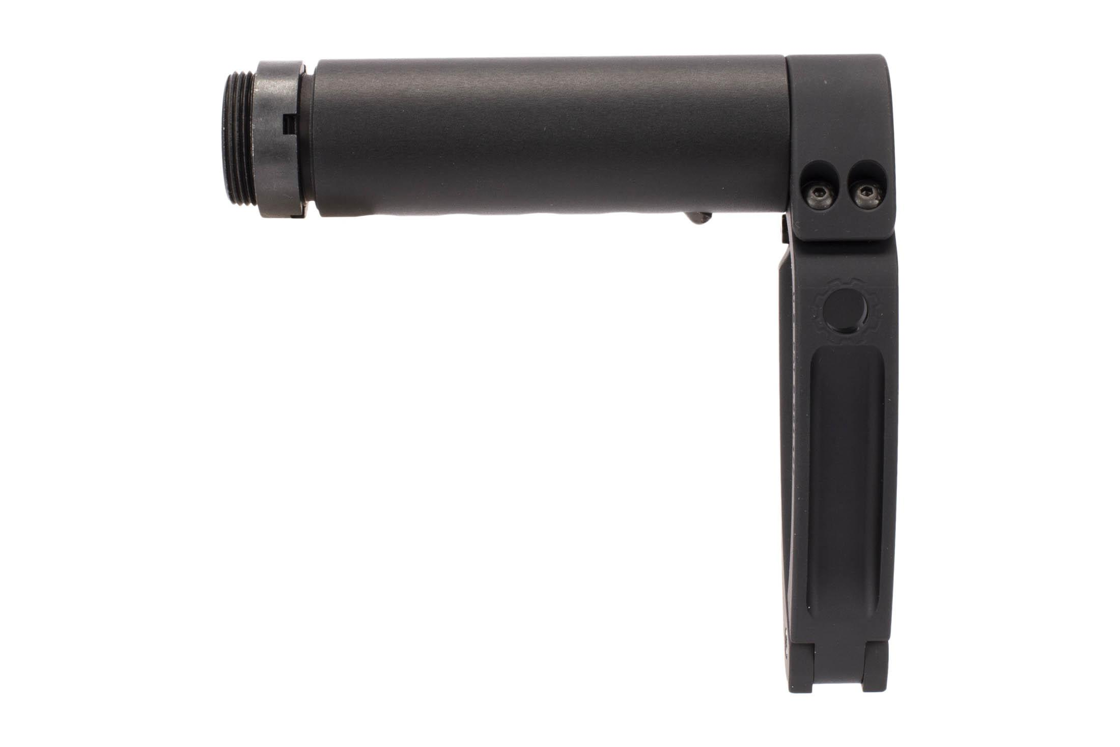 Dead Foot Arms G-REX Tailhook arm brace uses secure ball-detent adjustment for the ideal length