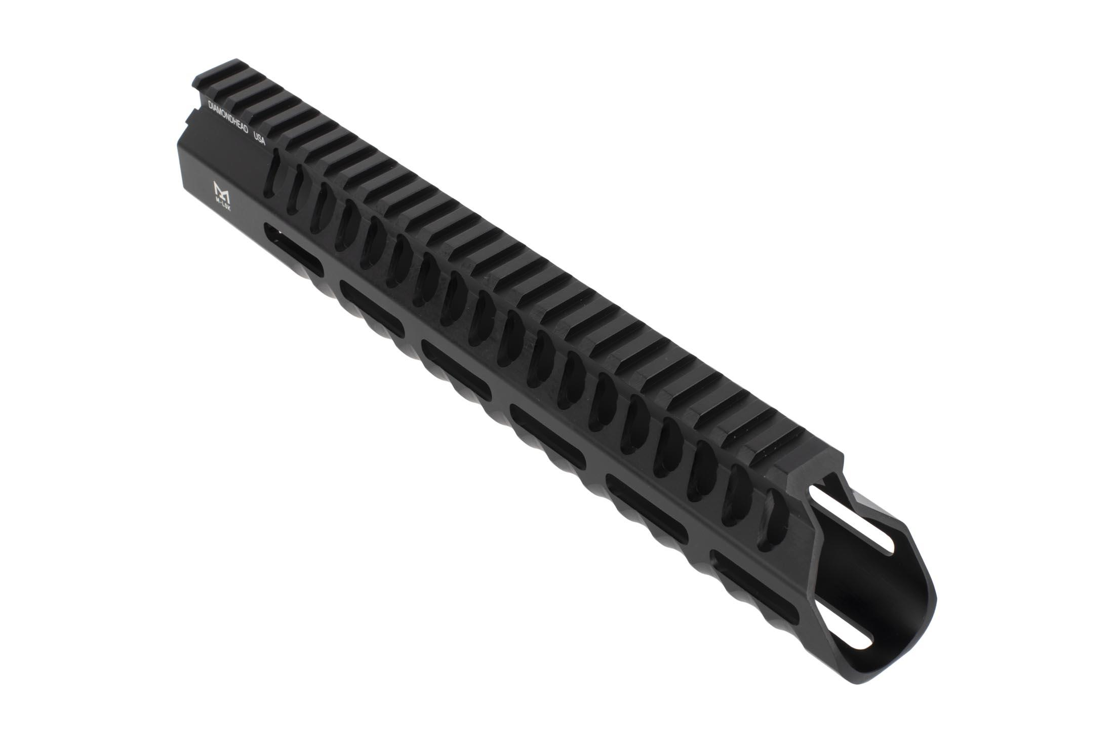 Diamondhead VRS T Gen 3 M-LOK handguard for the AR-15 is 10.25 inches of ergonomic free float rail with black anodized finish