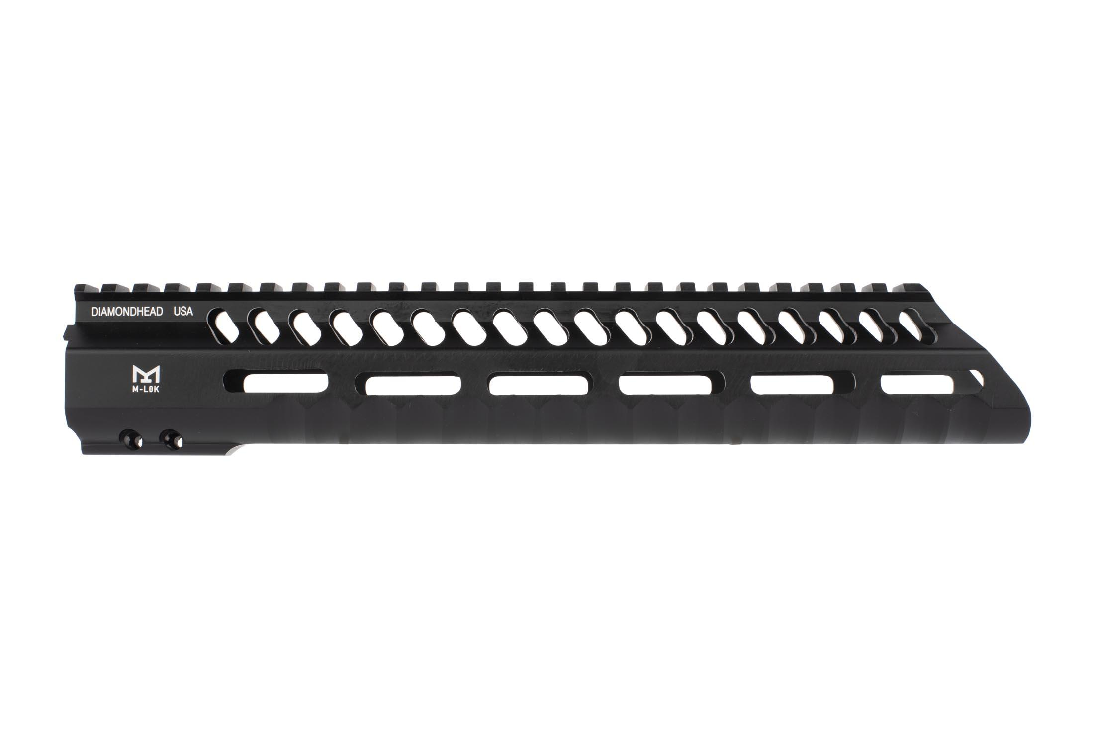 Diamondhead 10.25in 3rd generation VRS-T free float handguard features ergonomic finger grooves and M-LOK accessory slots