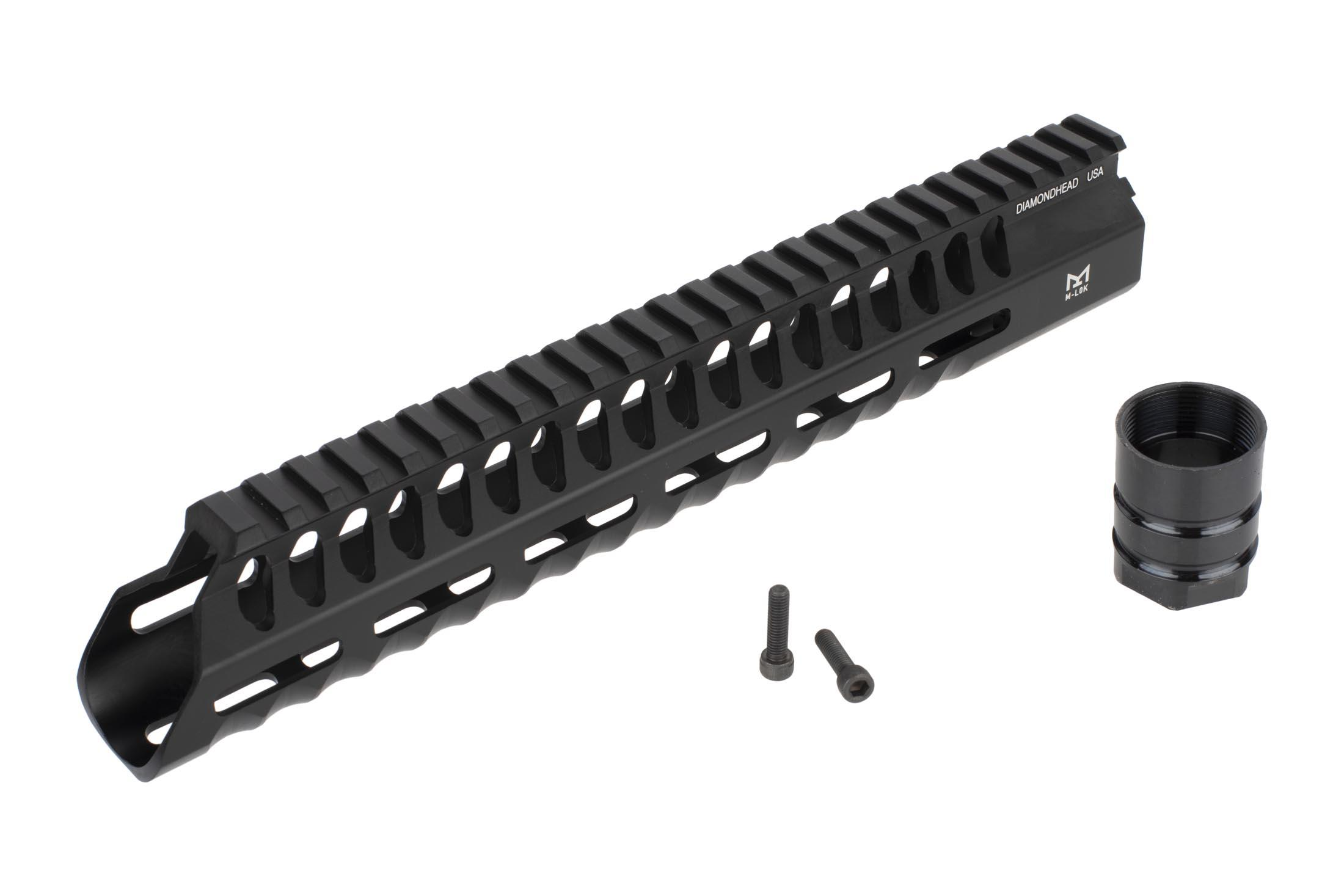 Diamondhead USA free float 10.25in VRS-T M-LOK handguard includes a steel barrel nut and mounting hardware