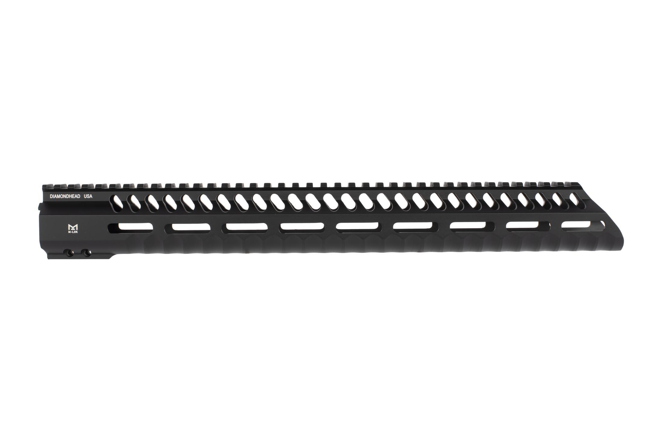 Diamondhead 15in 3rd generation VRS-T free float handguard features ergonomic finger grooves and M-LOK accessory slots