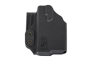 The DeSantis Slim Tuk Glock 43 Holster is ambidextrous and compatible with Streamlight TLR-6 weapon lights