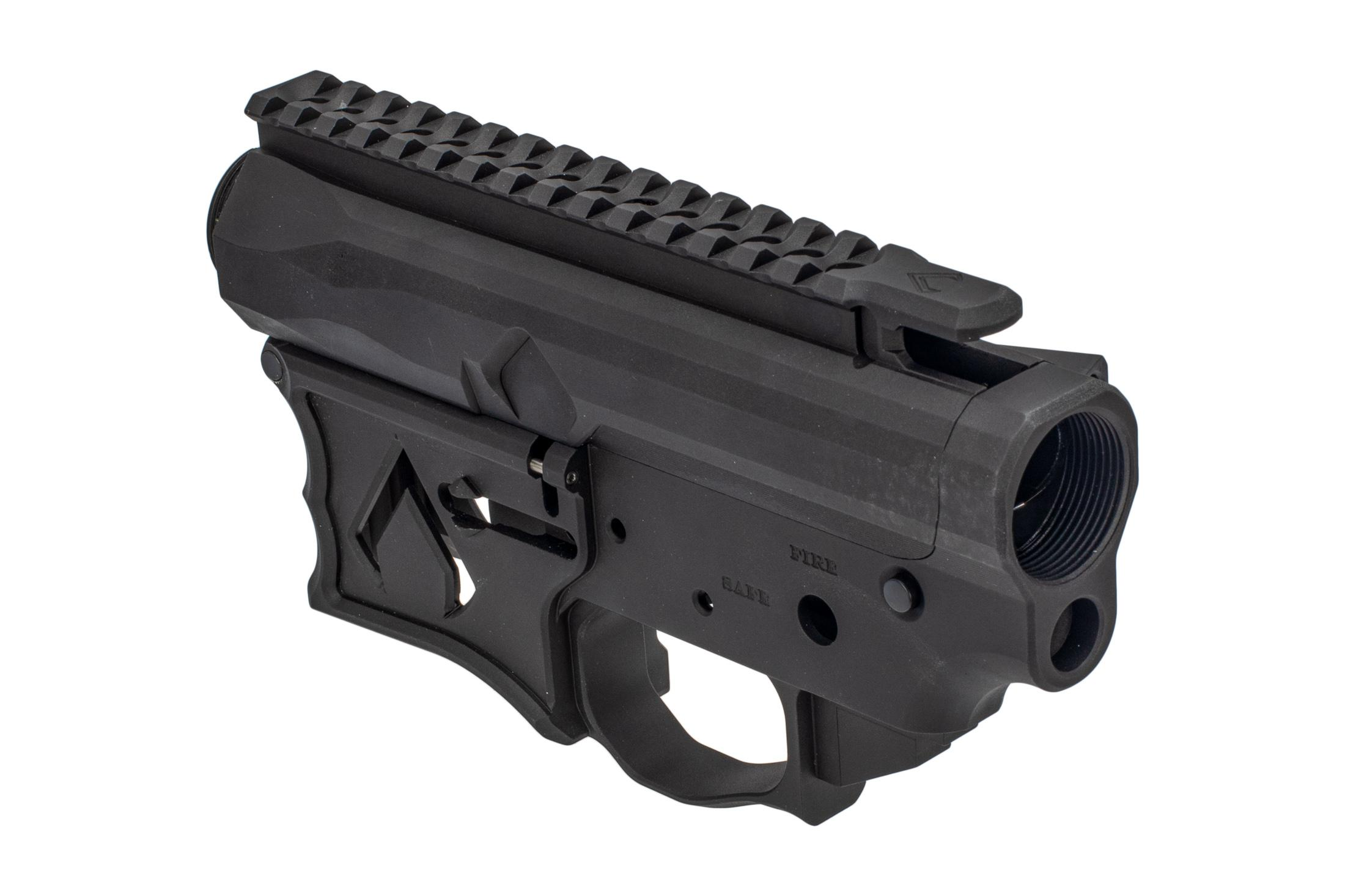 F1 Firearms Billet AR15 Receiver Set features a scalloped picatinny top rail