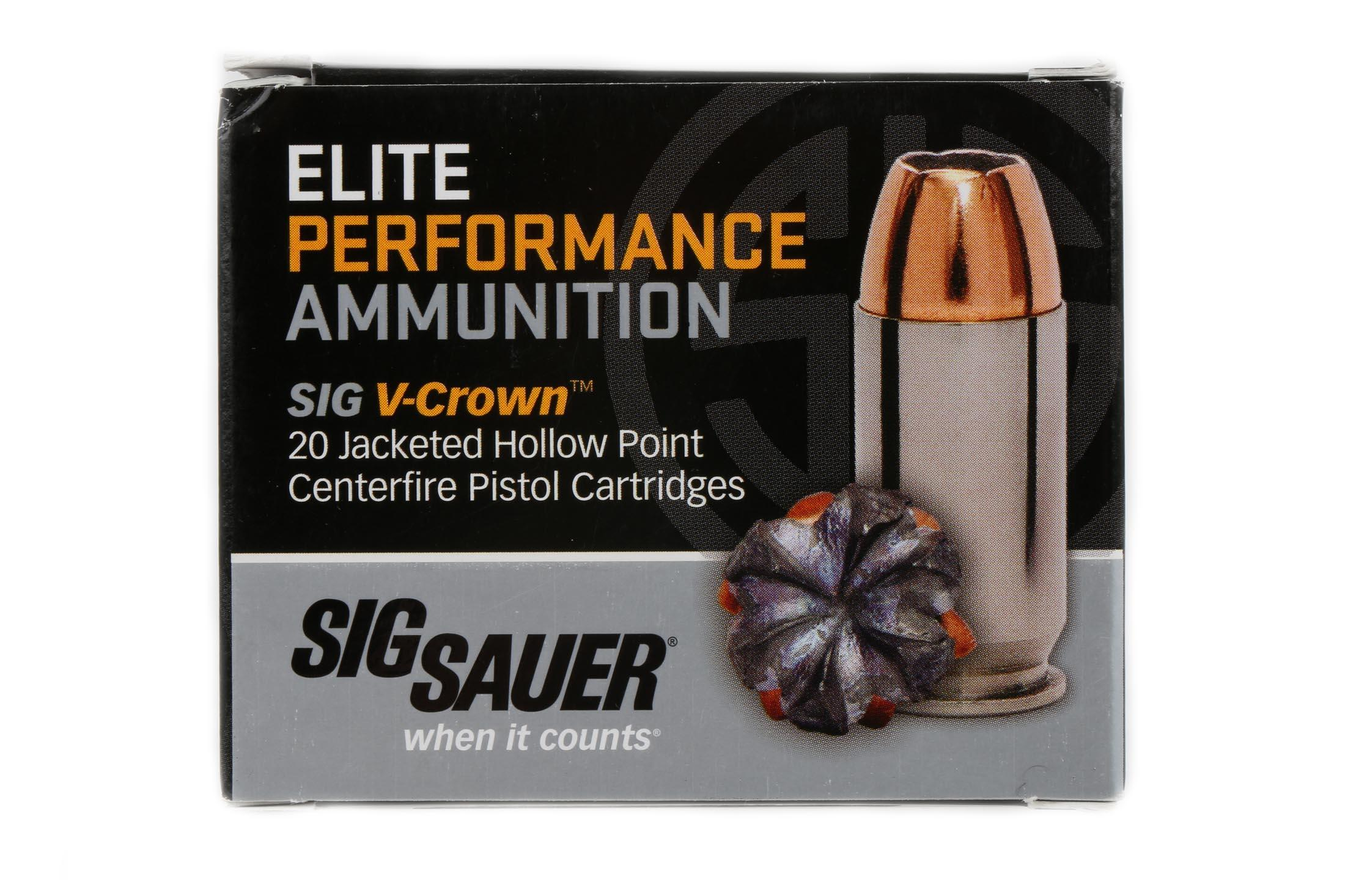 SIG Sauer Elite Performance 10mm 180 gr V-Crown JHP - Box of 20