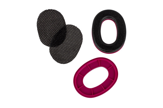 The Peltor Sport customizeable ear cushion ring set features a pink insert, so you can easily identify your ear muffs