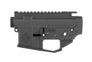 EDC cut AR-15 receiver set from EDC Tactical with sniper grey finish has an integral winterized trigger guard compatible with gloves.