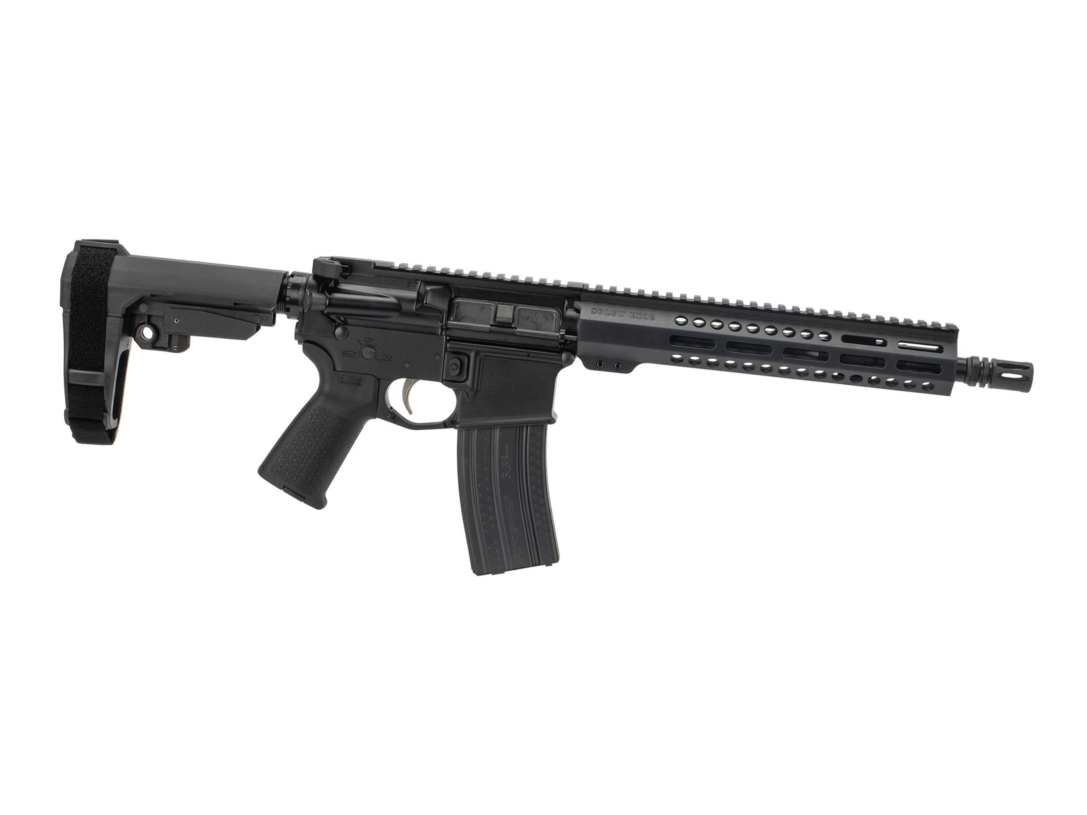 Sons of Liberty Gun Works M4-EXO2 5.56 AR-15 Pistol with SBA3 - 11.5