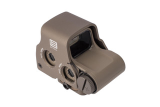 EOTech EXPS3-2 Tan holographic weaponsight features a matte tan finish and heavy duty aluminum protective hood