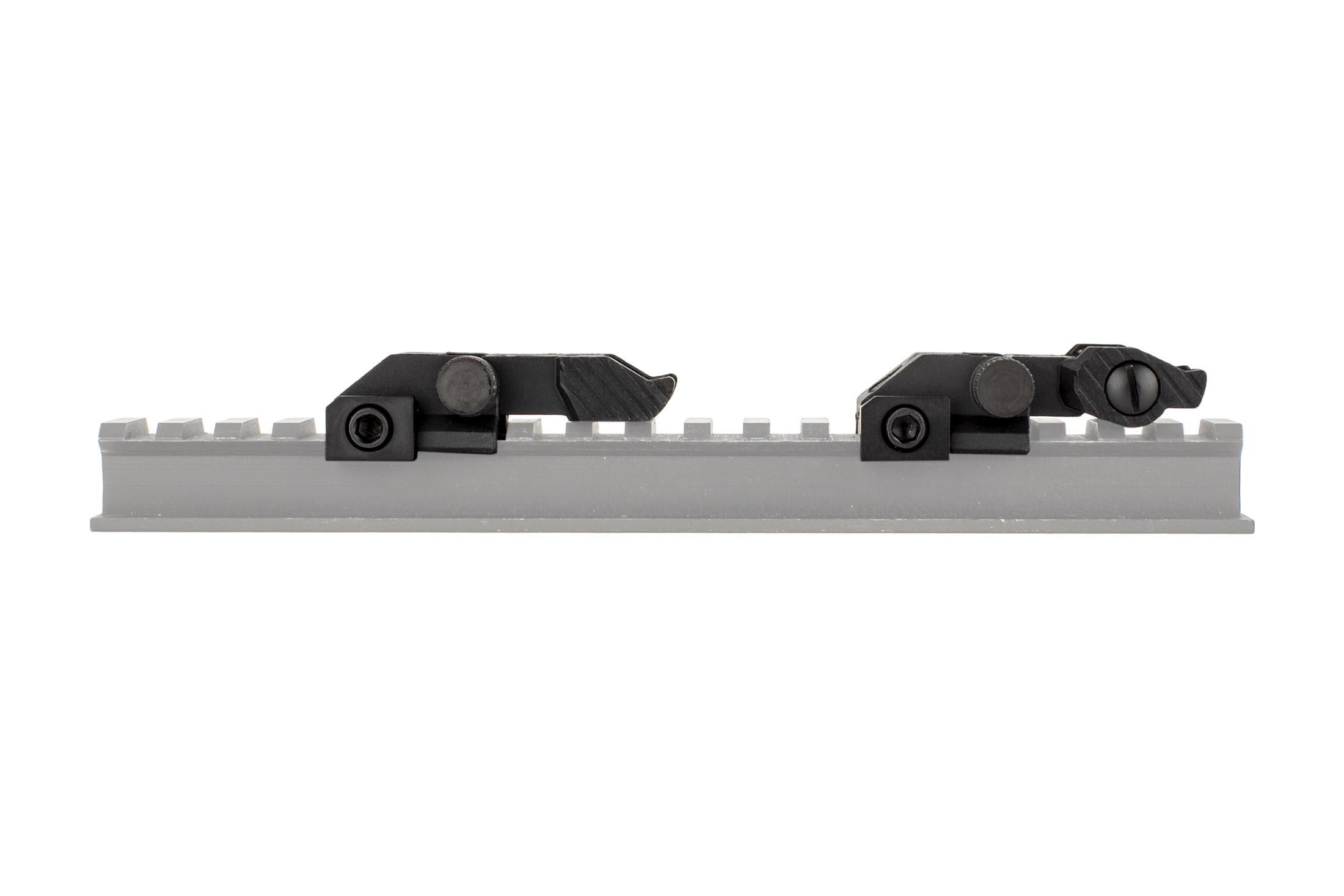 The Guntec USA EZ AR15 folding sights set are extremely low profile