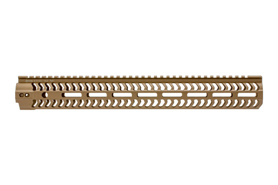 The Odin Works M-LOK handguard FDE 15.5 features a free float design