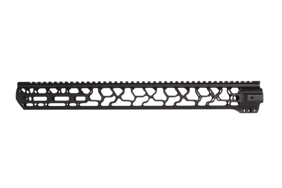Odin Works 17.5in Ragna free float M-LOK AR-15 handguard features M-LOK slots at the end as well as multiple QD sockets