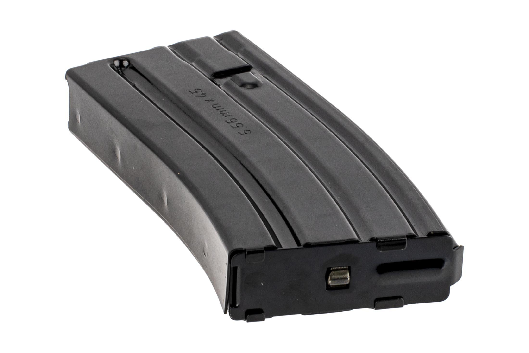 The Elander 20 round AR15 magazine steel features a removable base plate