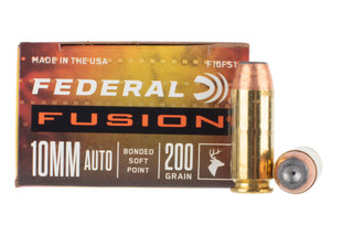 Federal Fusion 10mm soft point ammo features a 200 grain bullet