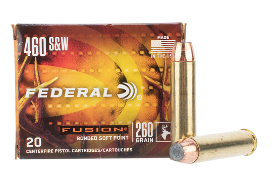 Federal Fusion 460 magnum ammo is loaded with a soft point bullet