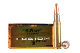 Federal Fusion 6.8 SPC soft point ammo is loaded with a 90 grain bullet