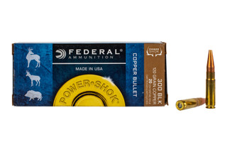 Federal PowerShok 300 BLK ammo features a 120 grain hollow point bullet