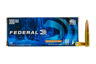 Federal Ammunition 300 Blackout 150-grain PowerShok hunting ammo is avaialble in 20-round boxes.