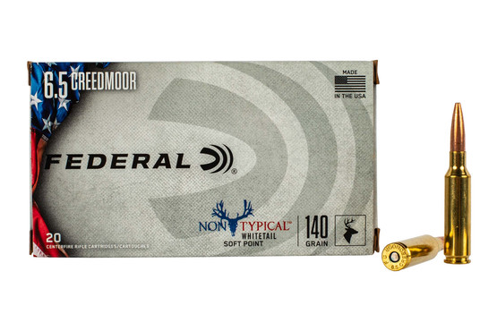 Federal Non-Typical 6.5 Creedmoor ammo features a 140 grain soft point bullet