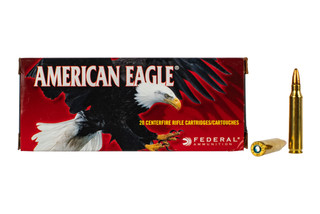 Federal American Eagle 223 hollow point ammo features a 50 grain bullet