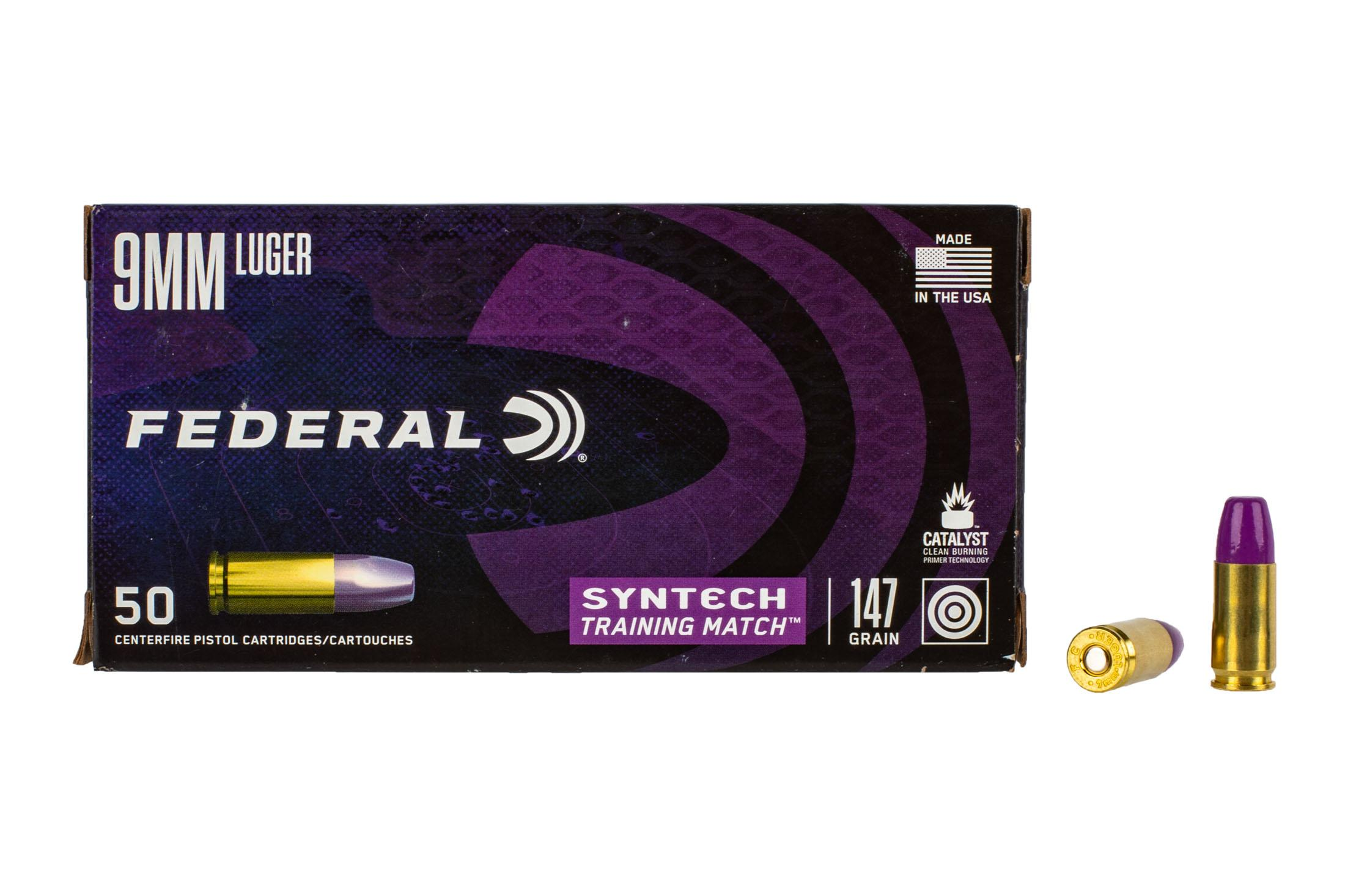 Federal Syntech 9mm ammo features a polymer bullet that resembles the HST