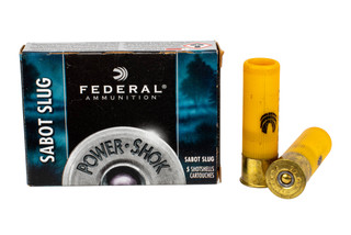 The Federal Power Shok 20 gauge slug is designed for 2.75 inch chambers