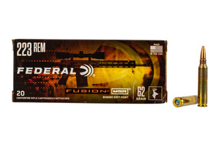 Federal Fusion MSR 223 Ammo features a 62 grain bonded soft point bullet