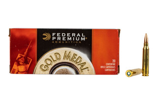 Federal Gold medal Match 223 Ammunition is loaded with Sierra MatchKing boat tail hollow point bullets