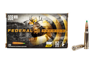 Federal Premium 308 ammo features the Nosler Ballistic tip bullet